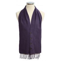 Purple Tartan Waistcoat Scarf
