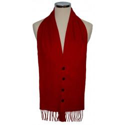 Red Tartan Waistcoat Scarf