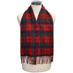 Robertson Red Modern Tartan Waistcoat Scarf