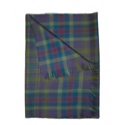 Barony Bright Check Fine Wool Scarf/Stole