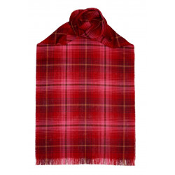 Lauriston Check Fine Wool Stole/ long lightweight scarf