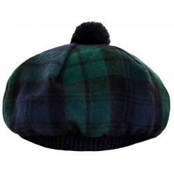 Black Watch Modern Brushed Wool Tam