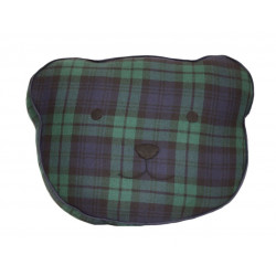 Black Watch Modern Tartan Bear Cushion
