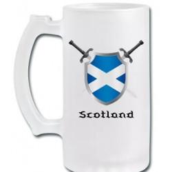 Scotland Frosted Stein