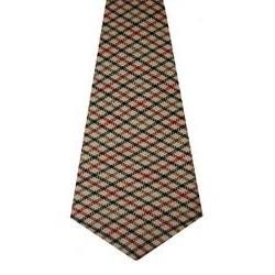 Denholm Check Tweed Wool Tie