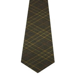 Eccles Check Tweed Wool Tie