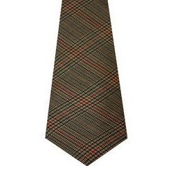 Minto Check Tweed Wool Tie